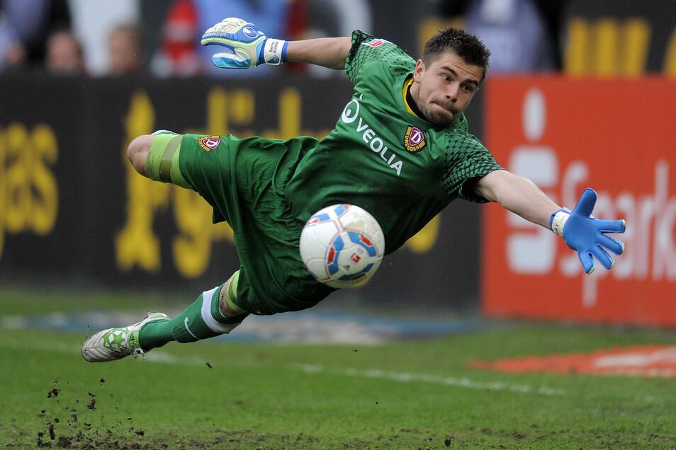 Benjamin Kirsten wechselte im Sommer 2008 von Bayer Leverkusen zu Dynamo und spielte zunächst in der zweiten Mannschaft, mit der er 2009 den Sachsenpokal gewann. Archivfoto: Robert Michael