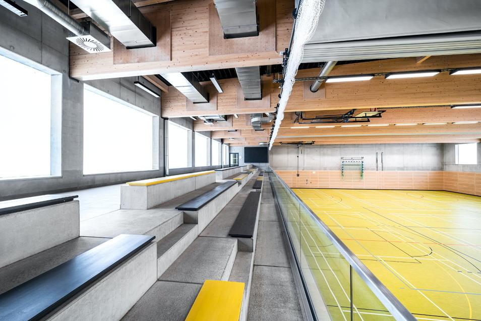 Die neue Dreifeld-Sporthalle in Bannewitz wird Anziehungspunkt beim Tag der Architektur.