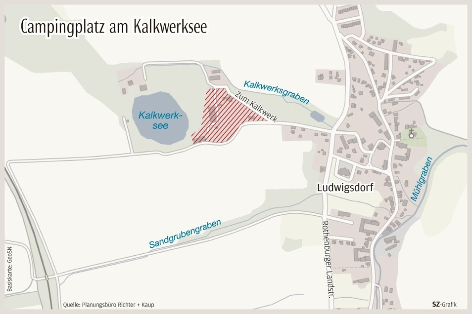Hier in Ludwigsdorf ist der neue Camping- und Stellplatz für Wohnmobile geplant.
