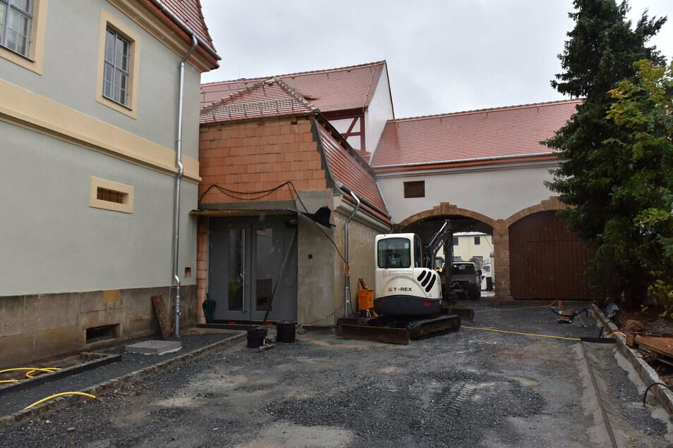 Das Museum bekommt einen neuen Haupteingang. Dafür wird die Remise, das frühere Wirtschaftsgebäude, genutzt.