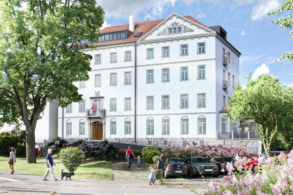 Tischerplatz 13: Blick vom Tischerplatz auf das Haus.