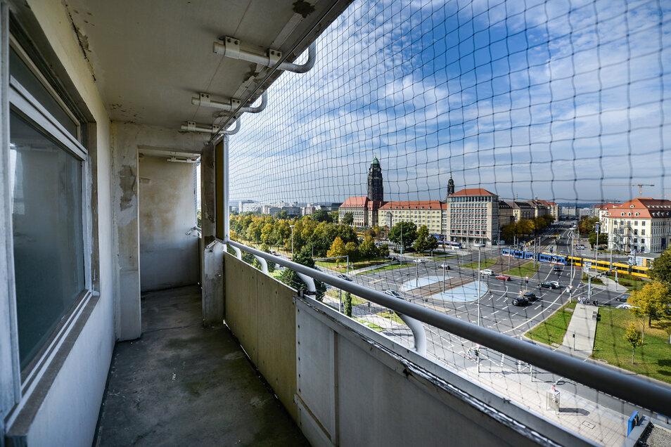 Der letzte Blick ins Hochhaus am Pirnaischen Platz