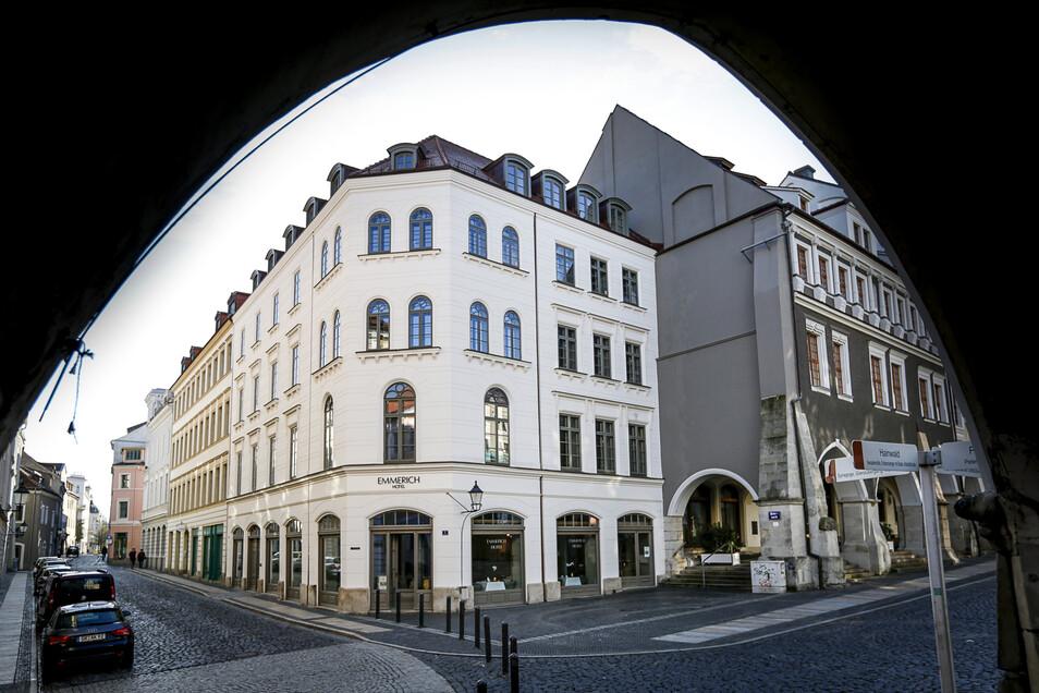 Das Hotel Emmerich am Untermarkt im Herzen der Görlitzer Altstadt.