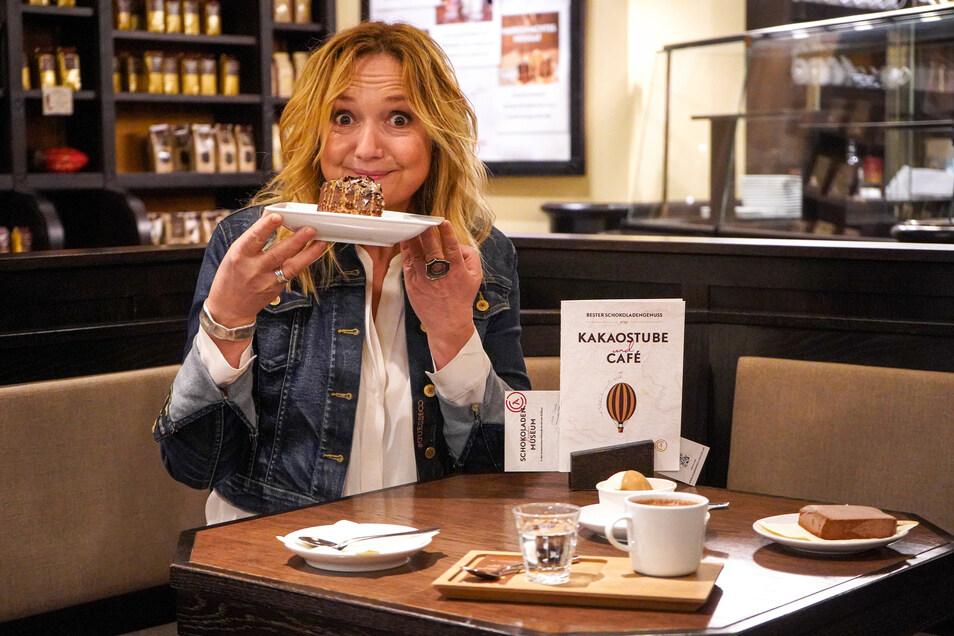 Im Schokoladenmuseum wurde Anja Koebel zur Feinschmeckerin.