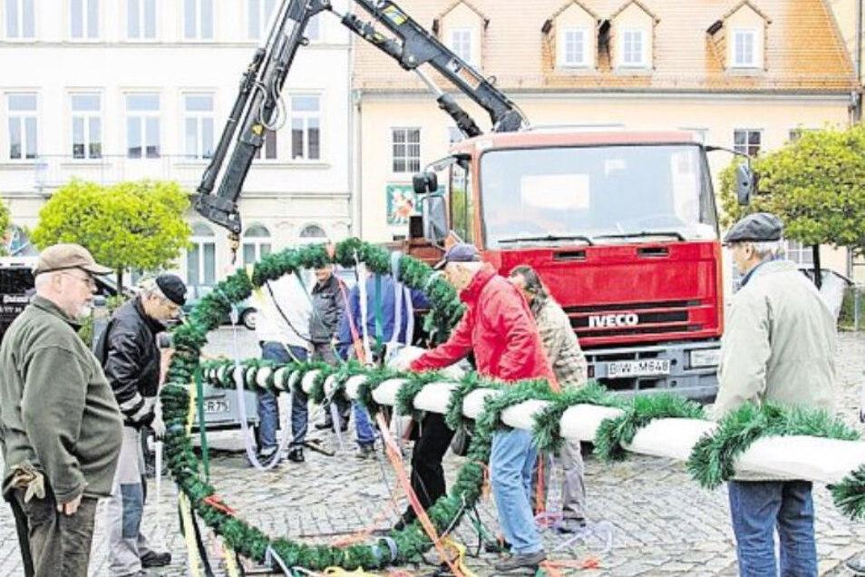 Seit 2011 wird in Pulsnitz wieder regelmäßig ein Maibaum aufgestellt - dieses Jahr wegen Corona allerdings nicht.