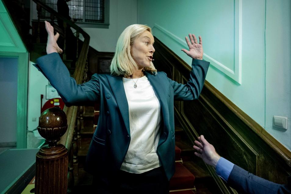 Sigrid Kaag, Parteivorsitzende der D66, ist die große Überraschung der Wahl.