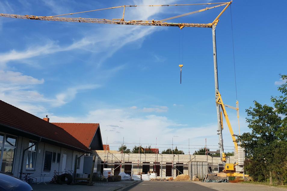 Hier entsteht im Kaufpark Mittelherwigsdorf gerade eine Kurzzeitpflege des Diakonischen Werkes im Kirchenbezirk Löbau-Zittau.