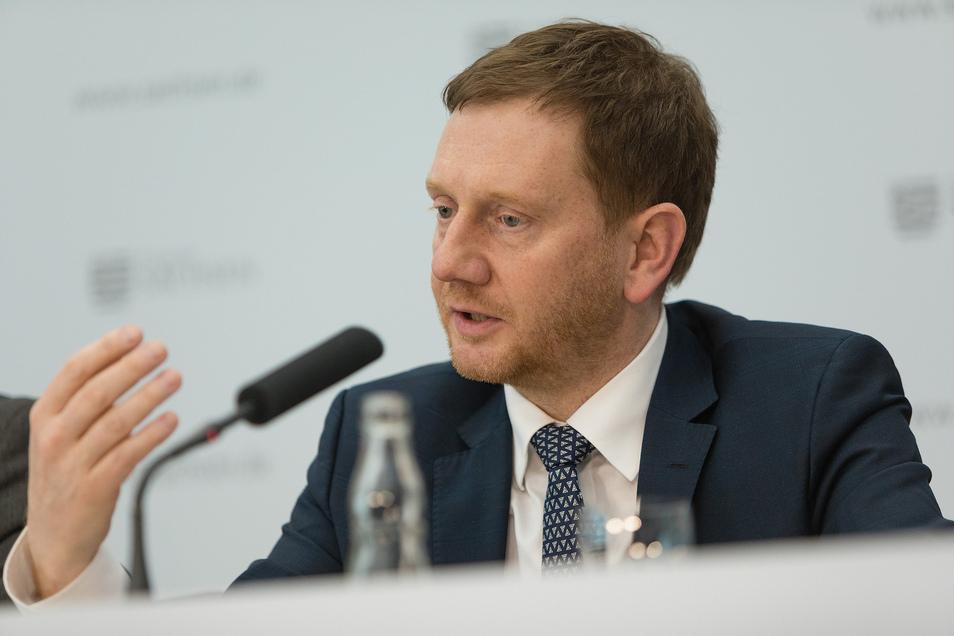 Ministerpräsident Michael Kretschmer nannte es ein großes Leid, was an der geschlossenen deutsch-polnischen Grenze passiere.