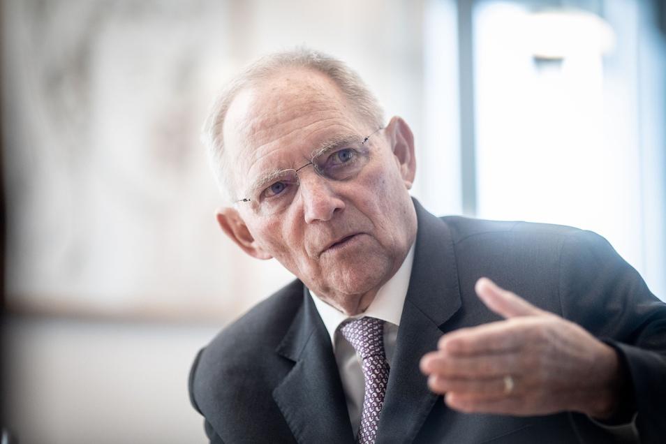 Bundestagspräsident Wolfgang Schäuble h