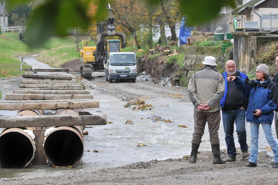 Wasserbauer sind gefragt - so wie hier am Landwasser in Oderwitz, wo 2013 das alte Dachwehr aus Hochwasserschutzgründen zurückgebaut wurde.