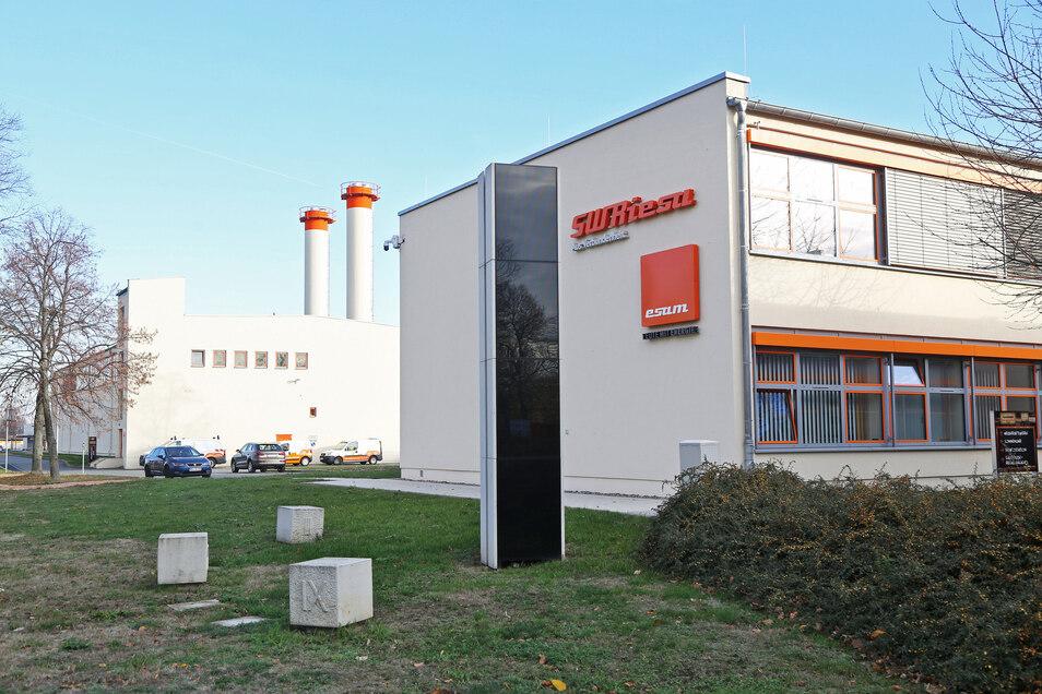 Die Stadtwerke - hier der Standort in Weida - lassen ihr Gasnetz überprüfen.