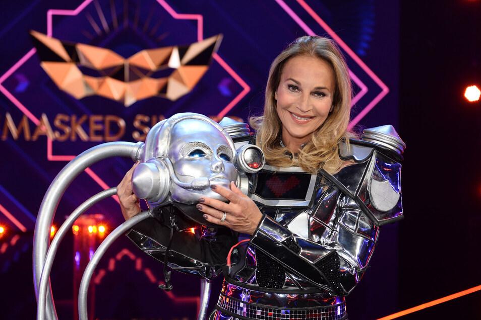 """Am Ende der vierten Liveshow von """"The Masked Singer"""" muss der Roboter seine Maske fallen lassen."""