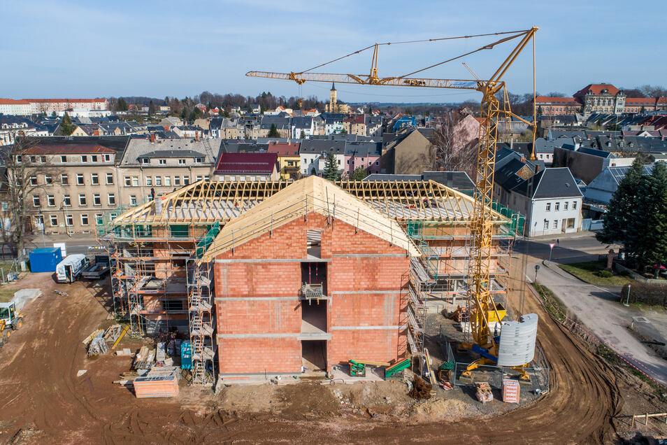 März 2020: Am vorderen Teil geht es an die letzten Schritte. Das Dach ist in Arbeit.