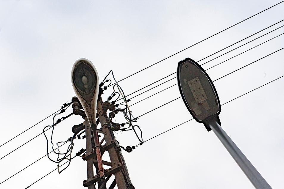 Symbolfoto: Aus alt wird neu: Das Ostrauer Gewerbegebiet soll neue LED-Laternen bekommen. Ob das klappt, hängt von Fördermitteln ab.