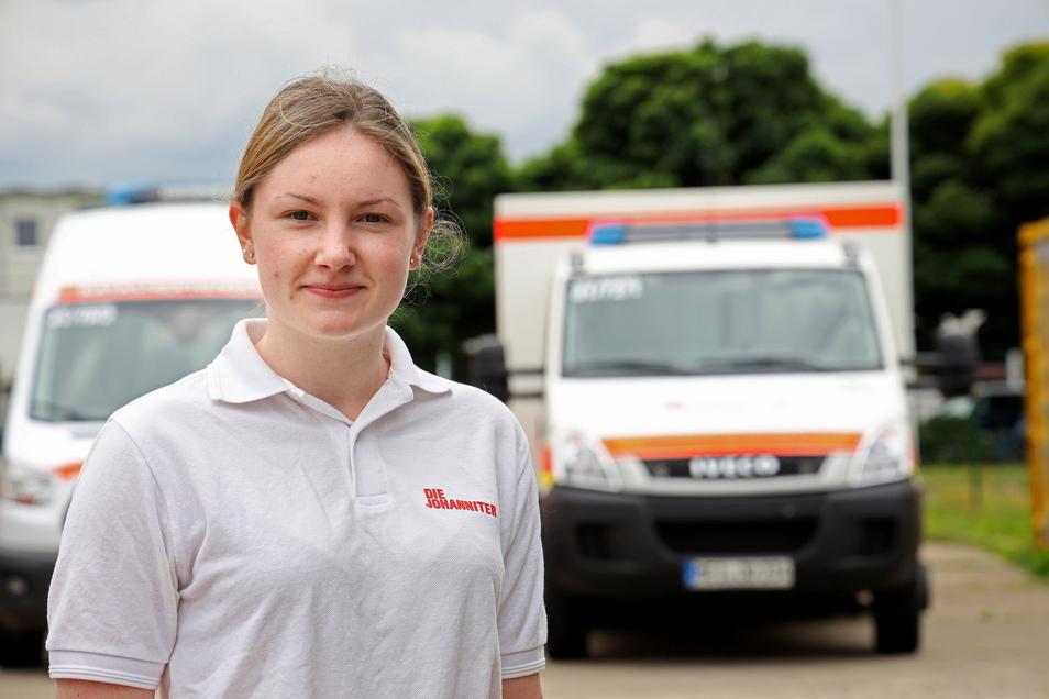 Für die 21-jährige Studentin Jenny Hornung ist es der erste Hochwasser-Einsatz. Und dann auch noch in einem anderen Bundesland.