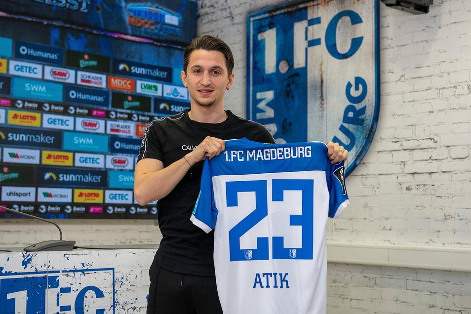 Ex-Dynamo Baris Atik trägt künftig das Trikot des Liga-Konkurrenten 1. FC Magdeburg.