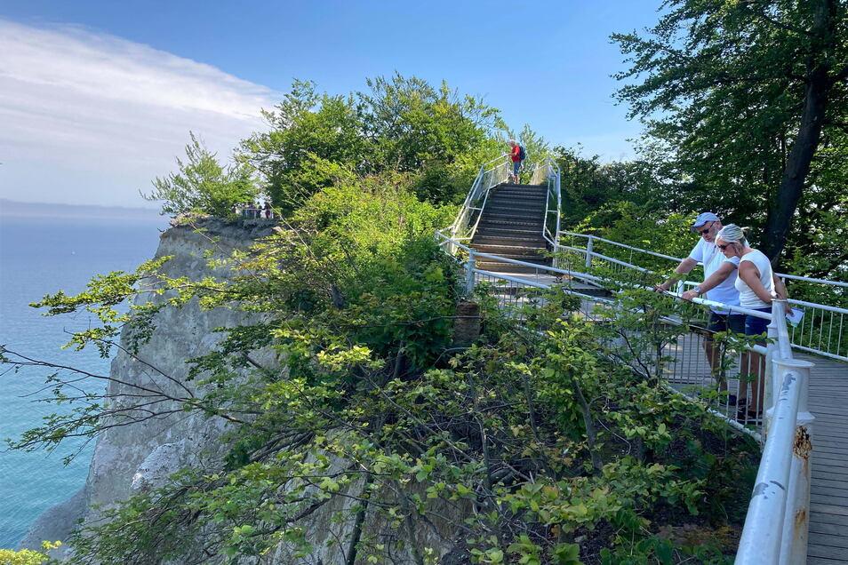 Nur noch bis Ende Oktober können Besucher den bisherigen Zugang zum Aussichtfelsen nutzen. Danach wird der Zugang demontiert, und dieser Felsen wird nie wieder begehbar sein.