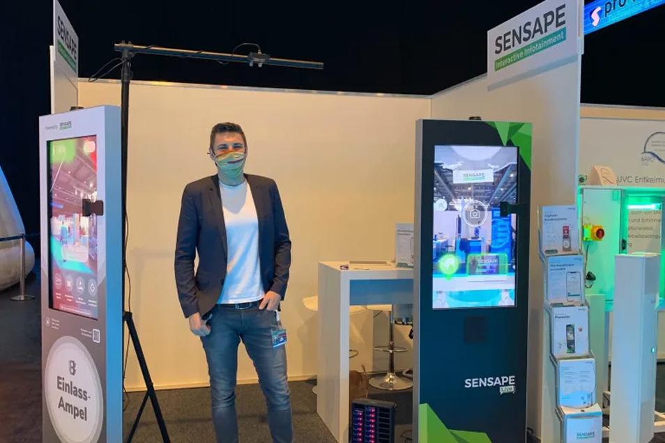 Michael Lehnert von Sensape auf der Pro. Vention Fachmesse in Erfurt