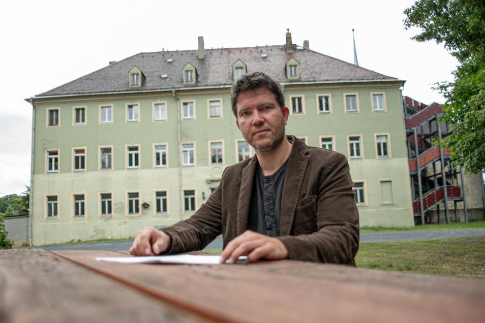 Hofft noch auf eine Einigung mit der Stadt Kamenz: Frank Jank, Vorstand der Freien Alternativschule. Die Initiative möchte im Schloss Brauna eine freie Grundschule einrichten. Die Stadt hat andere Pläne.