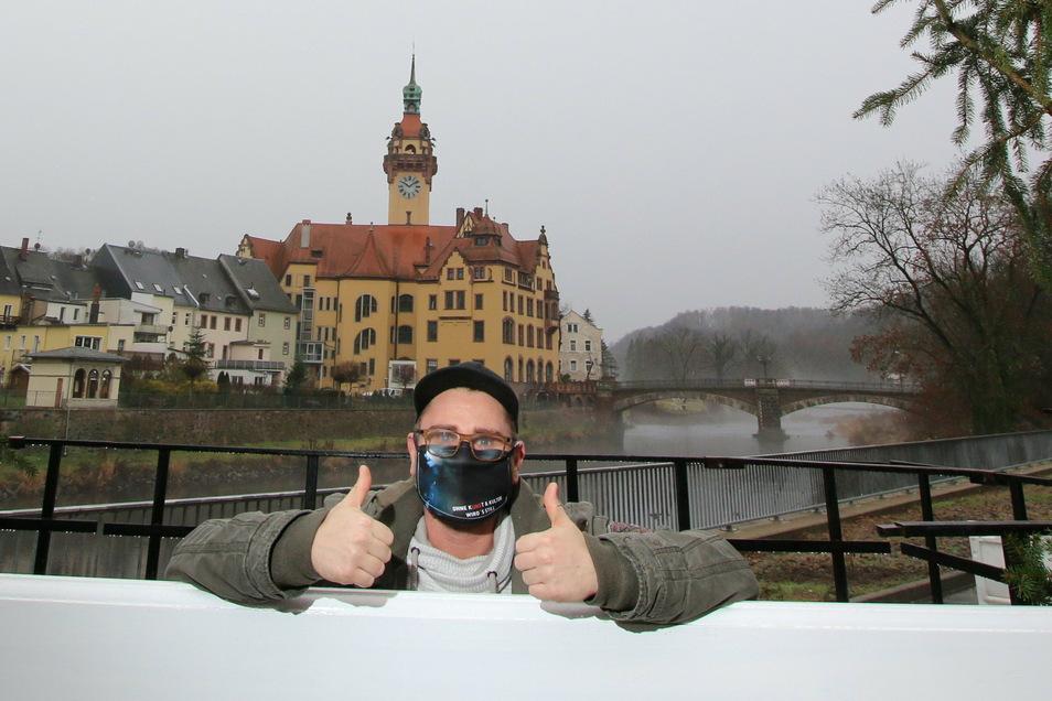 Trotz aller Schwierigkeiten will Nino Richter, der für Waldheim die Stadtfeste plant, den Blick nach vorn richten.