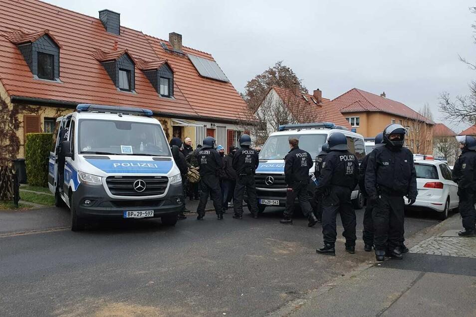 Polizeieinsatz an der Geystraße.