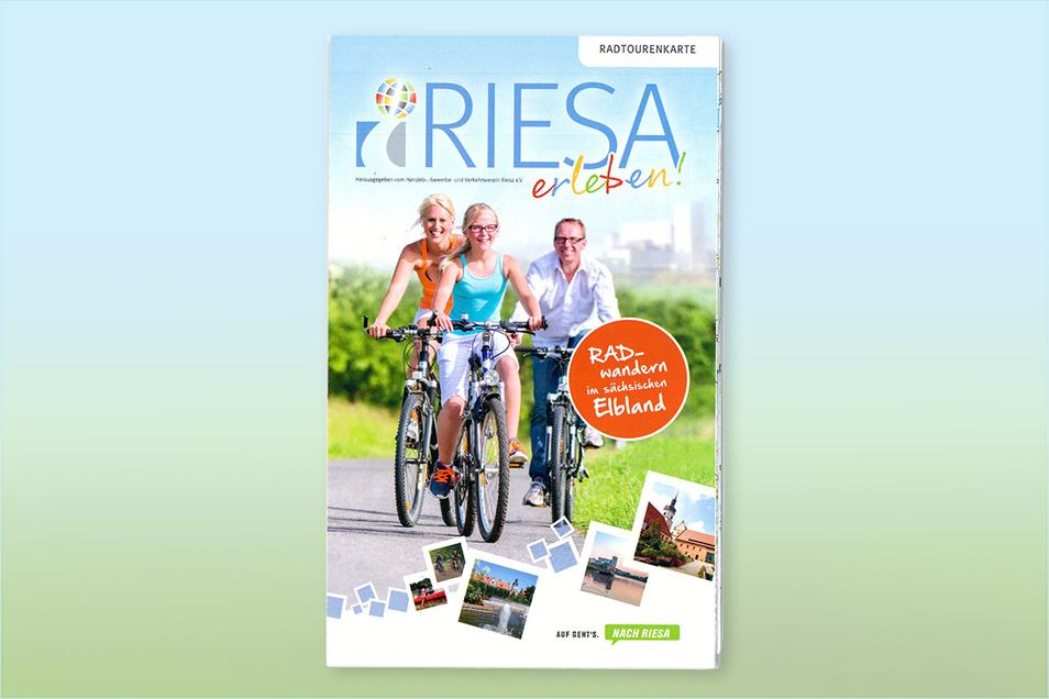 Diese Karte mit neun Radtouren rund um Riesa ist soeben erschienen.