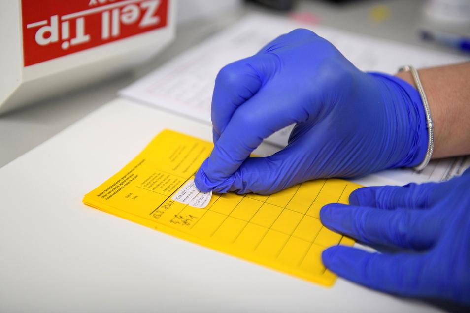 Informationen über die Corona-Impfung werden im Impfpass eingetragen.