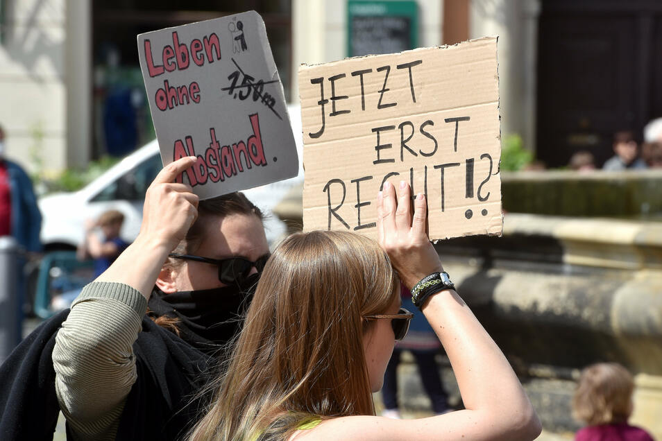 Anti-Corona-Demo in Zittau.