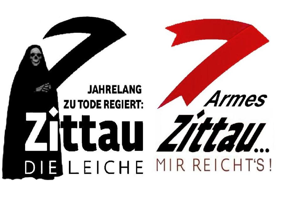 Kaum war das neue Zittau-Logo veröffentlicht, kursierten in den sozialen Netzen Karikaturen dazu.