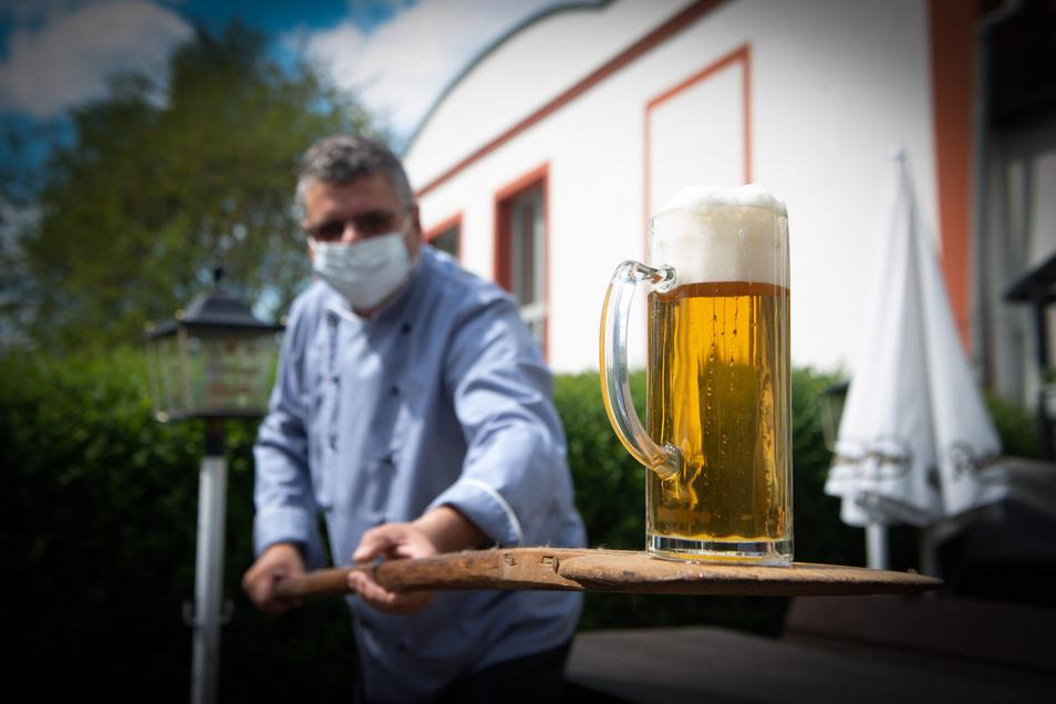 """Torsten Göpner will sein """"Erbgericht"""" in Wachau in den nächsten Tagen öffnen - und vorher mal schauen, wie es bei anderen so läuft."""