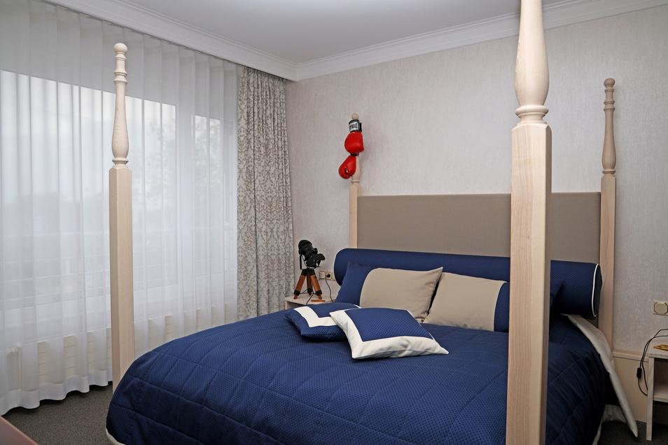 In der Suite hat Muhammad Ali 2002 genächtigt - das Bett ist allerdings neu.