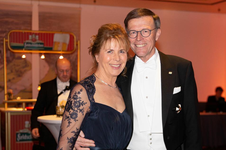 Landtagspräsident Matthias Rößler mit Frau Gerlind.