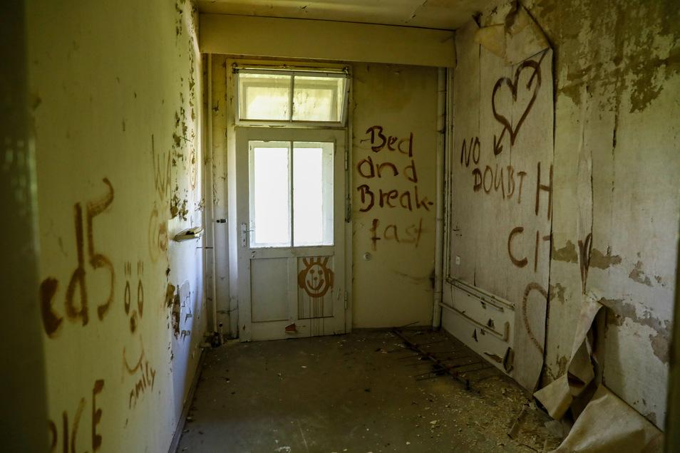 Eines der Zimmer im ersten Obergeschoss.