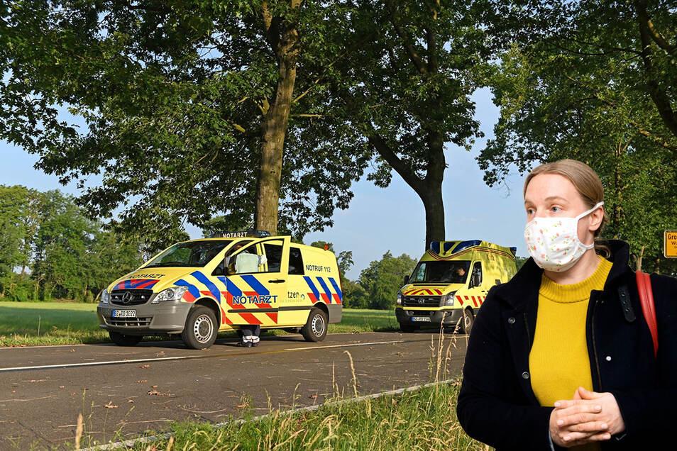 Bautzens Amtsärztin Jana Gärtner ist an manchen Wochenenden als Notärztin im Einsatz. Die Nebentätigkeit übe sie mit Herzblut und Leidenschaft aus, sagt sie. Ist aber von beidem noch ausreichend zur Pandemiebekämpfung vorhanden?