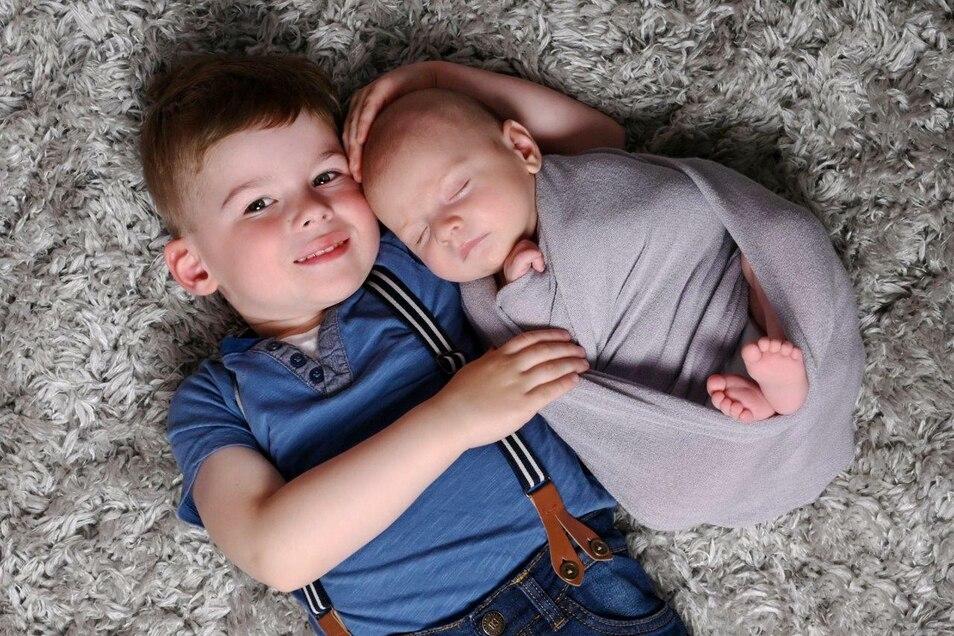 Fotoshooting mit Neugeborenen und Kleinkindern.