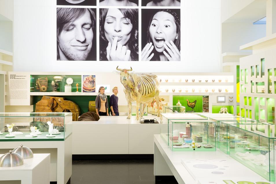 """Der Ausstellungsbereich """"Essen und Trinken"""" beschäftigt sich mit der Ernährung des Menschen."""