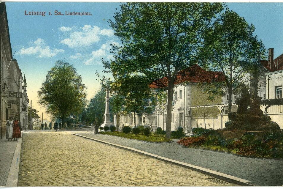 Mit dem Anschluss Leisnigs ans Eisenbahnnetz vor mehr als 150 Jahren ist es in der Kleinstadt industriell aufwärts gegangen - und die Einwohner gingen spazieren oder flanieren, unter anderem auf dem Lindenplatz. Der war parkartig angelegt mit viel Grün.