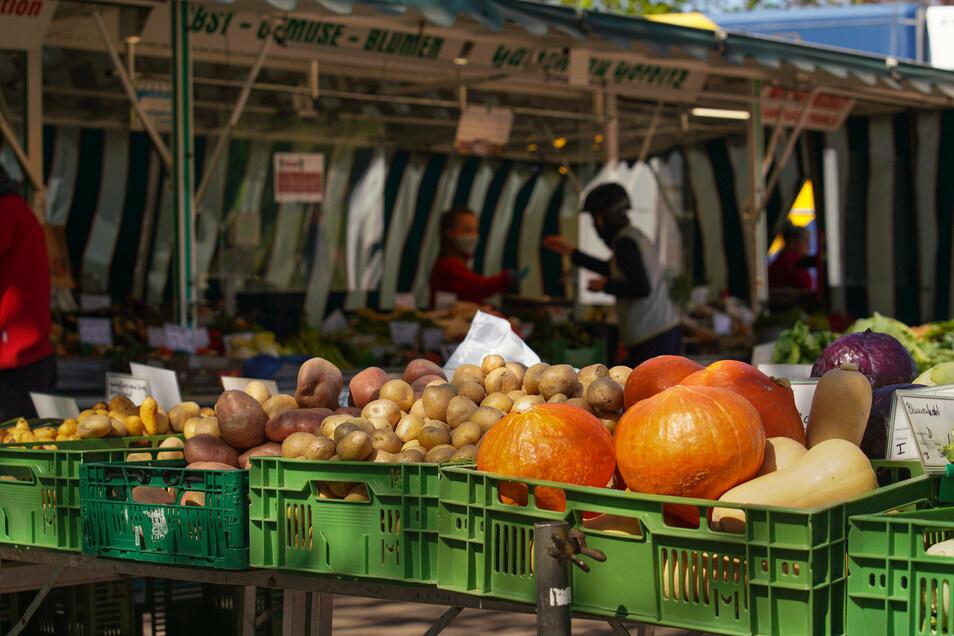 Kürbisse, Kartoffeln, Kohl - so geht Herbst. Am Sonntag bauen Direktvermarkter in Wilsdruff ihre Stände auf.