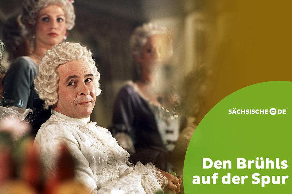 """Edzard Haußmann spielt den Grafen von Brühl Ezard Haußmann als Heinrich von Brühl im DDR-Mehrteiler """"Sachsens Glanz und Preußens Gloria""""."""