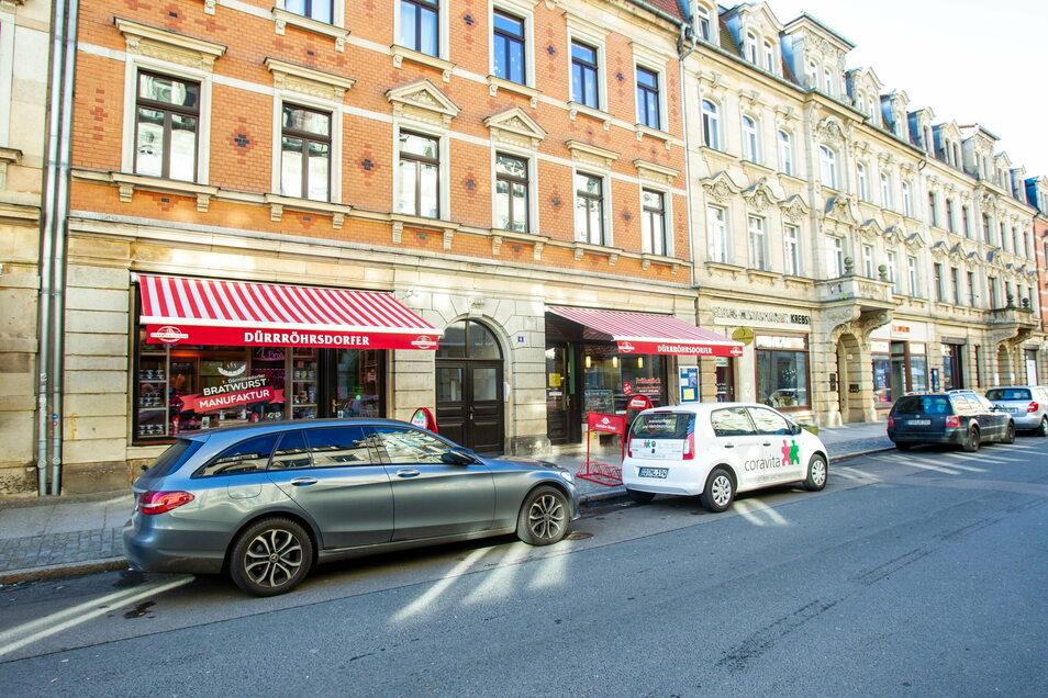 Gartenstraße in Pirna: Bis Mitte Februar weniger Parkplätze als bisher.