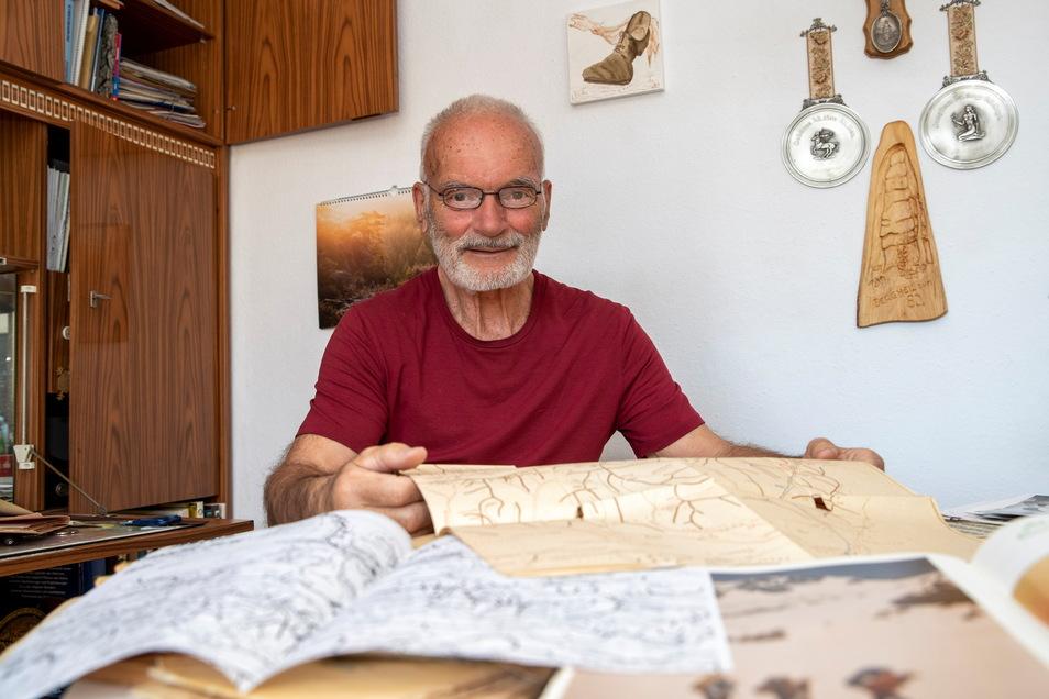 """""""Wir wollten raus."""" Klaus Jäschke, 81, aus Pirna fuhr als DDR-Bürger siebenmal illegal zum Bergsteigen in die Sowjetunion."""