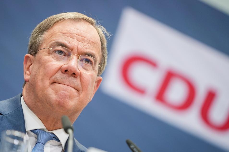 CDU-Parteichef Armin Laschet hatte vergangenen Donnerstag seine Bereitschaft zum Rückzug verkündet.