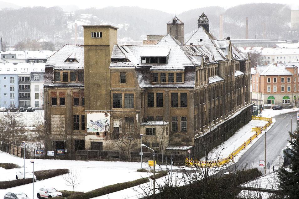 So sah die Lederfabrik an der Freitaler Poisentalstraße im Winter 2019 aus.