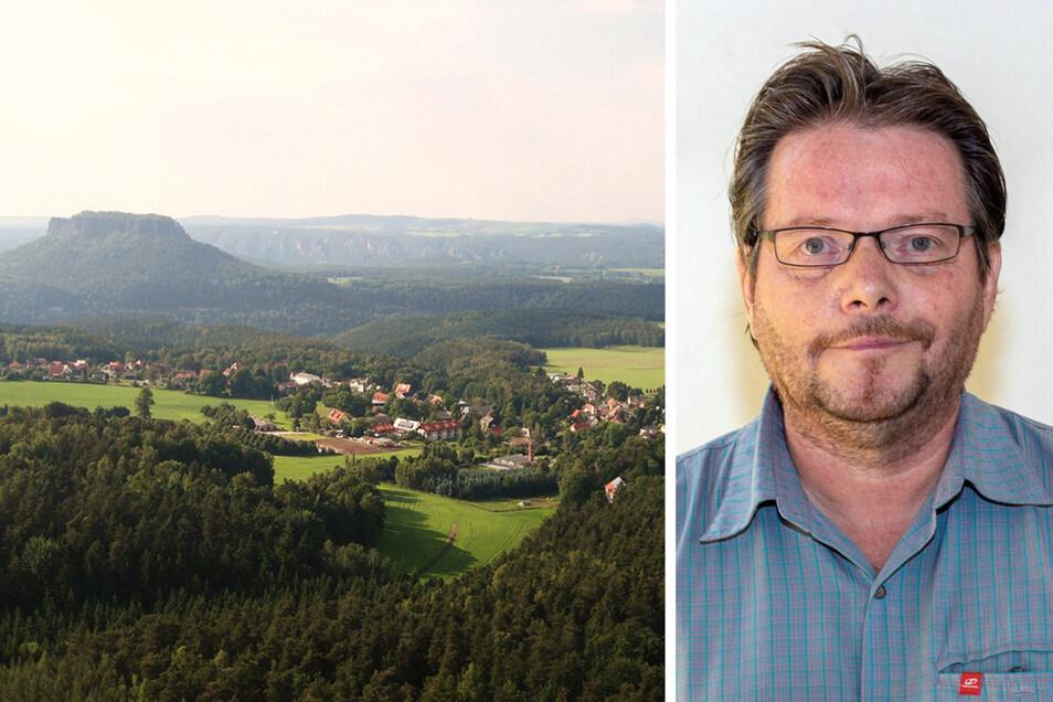 Uwe Börner ist über die Liste der Grünen bei der Kommunalwahl in Gohrisch angetreten und hat sich dann mit zwei CDUlern und einem AfD-Mann zusammengetan.