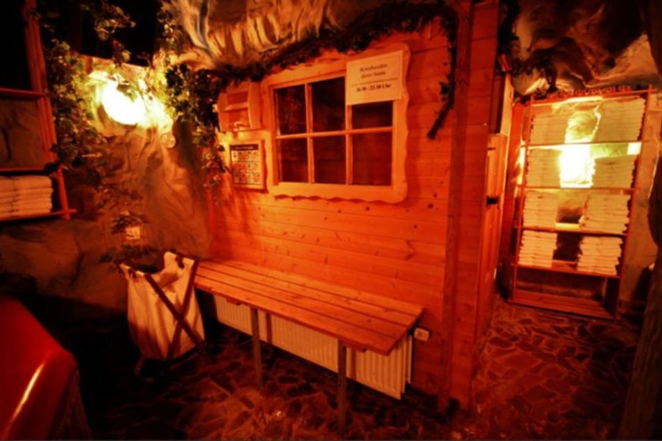 Der Saunabereich.