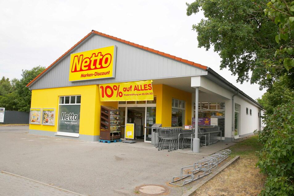 Der Netto-Markt in Königsbrück öffnet nach der Modernisierung am Dienstag wieder.