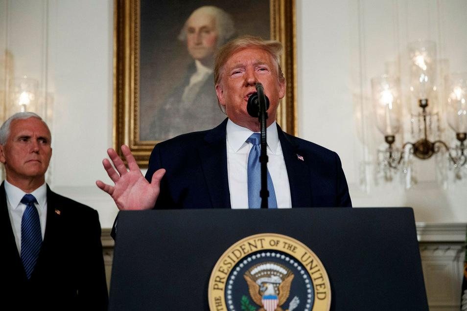 Präsident Donald Trum verspricht, dass es diesmal Konsequenzen im Waffengesetz geben wird.