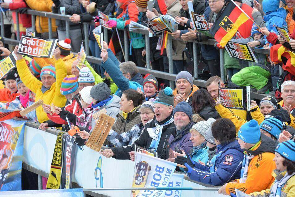 Gleich weiterjubeln: Nach 2020 finden auch die Bob- und Skeleton-Weltmeisterschaften 2021 wieder in Altenberg statt.