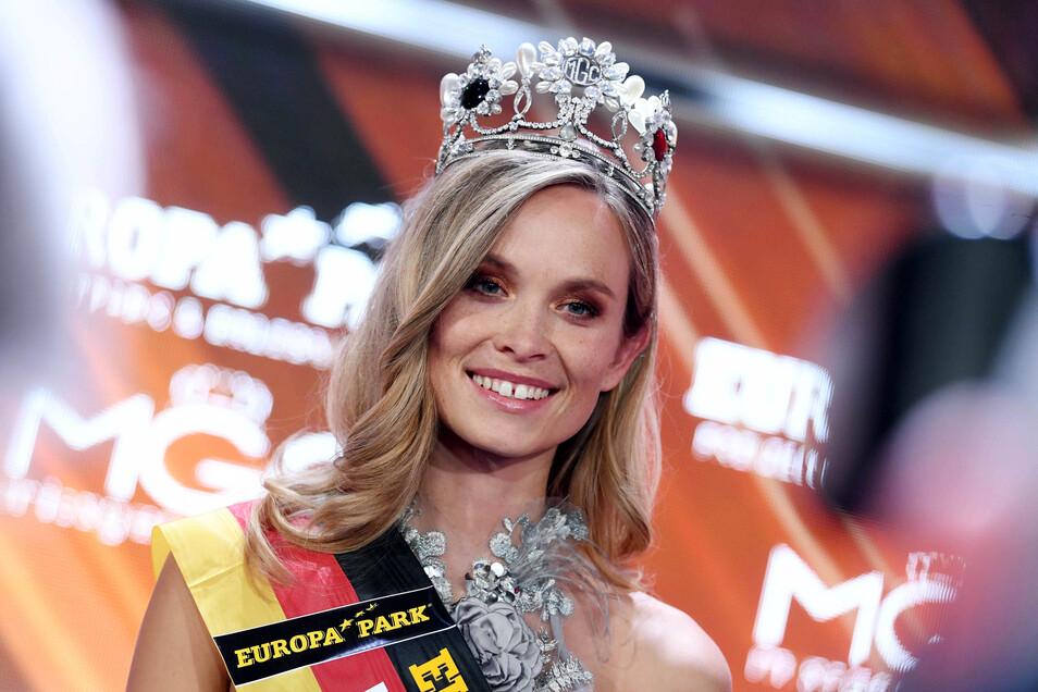 """Im Europa-Park wurde Nadine Berneis im vergangenen Jahr zur """"Miss Germany 2019"""" gekürt."""