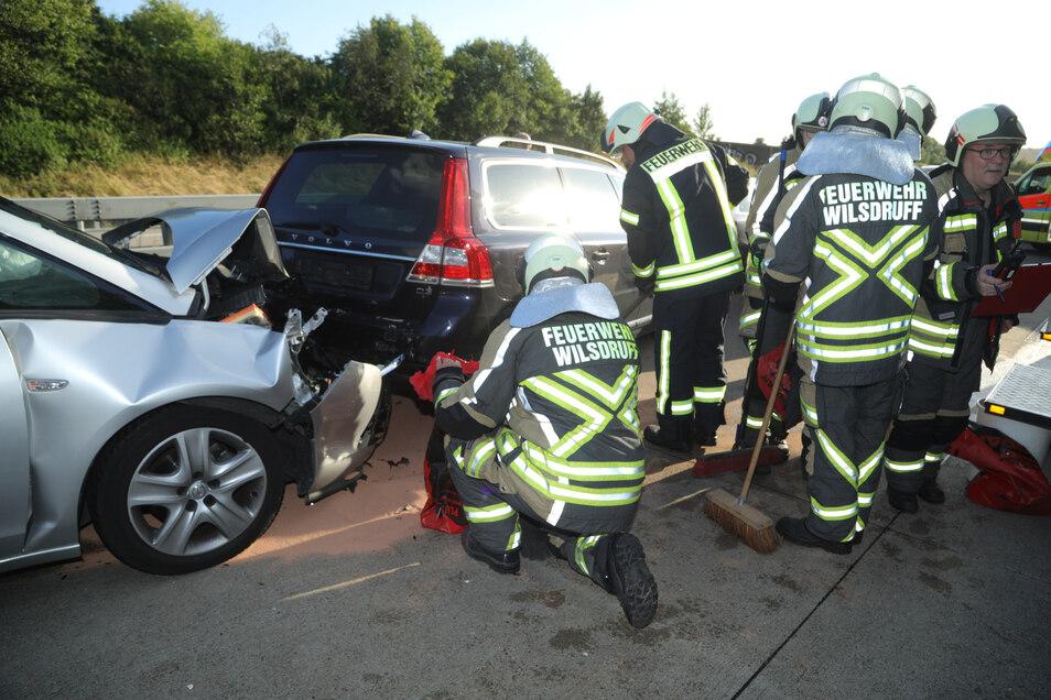 Sieben Autos waren in den Unfall verwickelt.